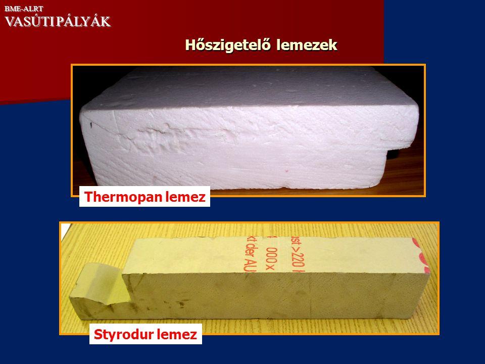 Hőszigetelő lemezek VASÚTI PÁLYÁK Thermopan lemez Styrodur lemez