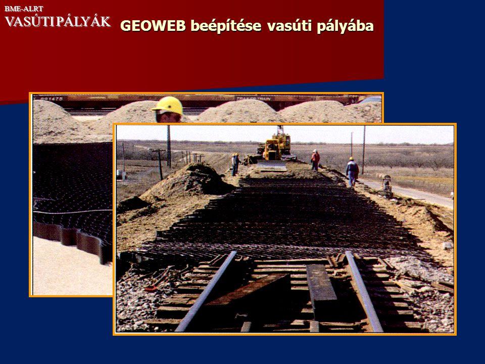 GEOWEB beépítése vasúti pályába