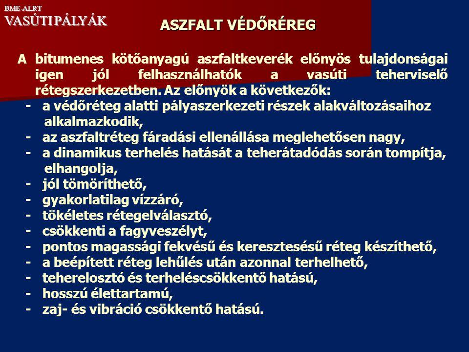 ASZFALT VÉDŐRÉREG VASÚTI PÁLYÁK