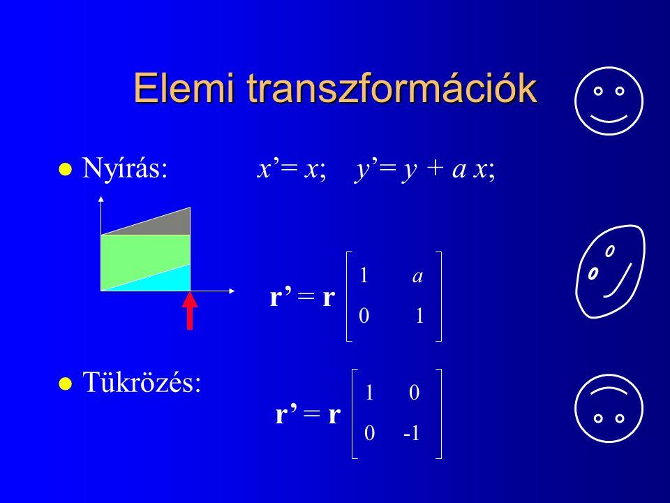 Elemi transzformációk