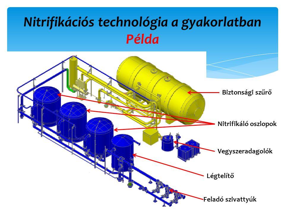 Nitrifikációs technológia a gyakorlatban Példa