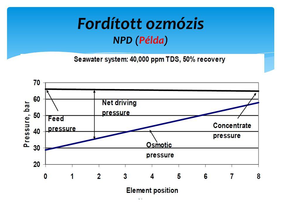 Fordított ozmózis NPD (Példa)