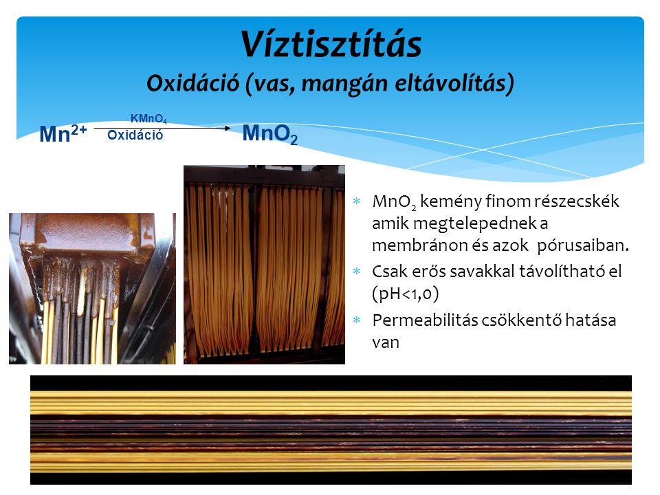 Víztisztítás Oxidáció (vas, mangán eltávolítás)