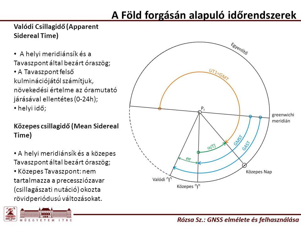 A Föld forgásán alapuló időrendszerek
