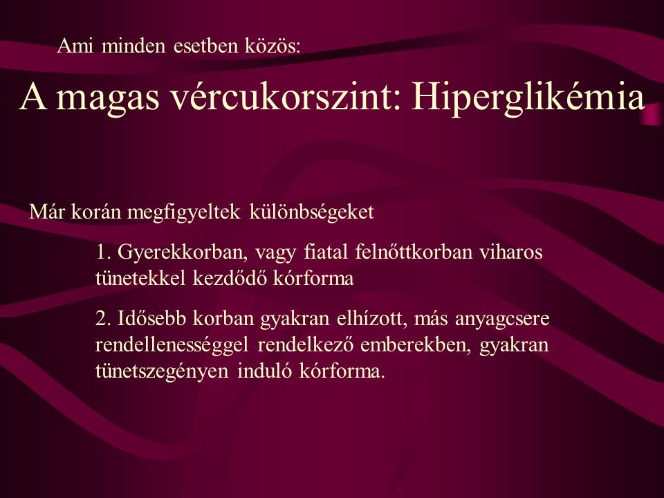 A magas vércukorszint: Hiperglikémia