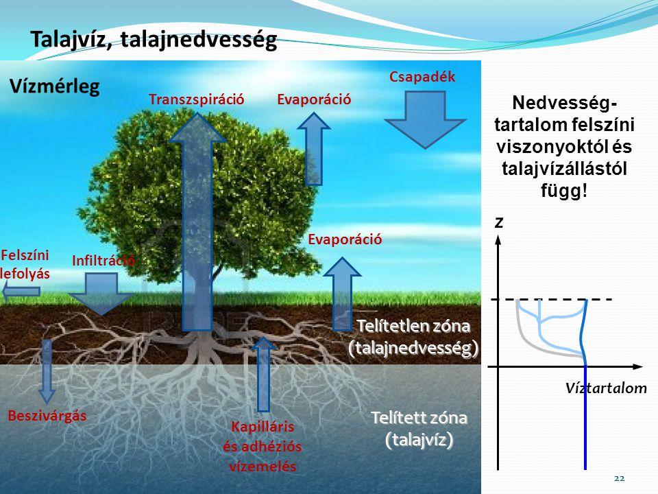 Talajvíz, talajnedvesség