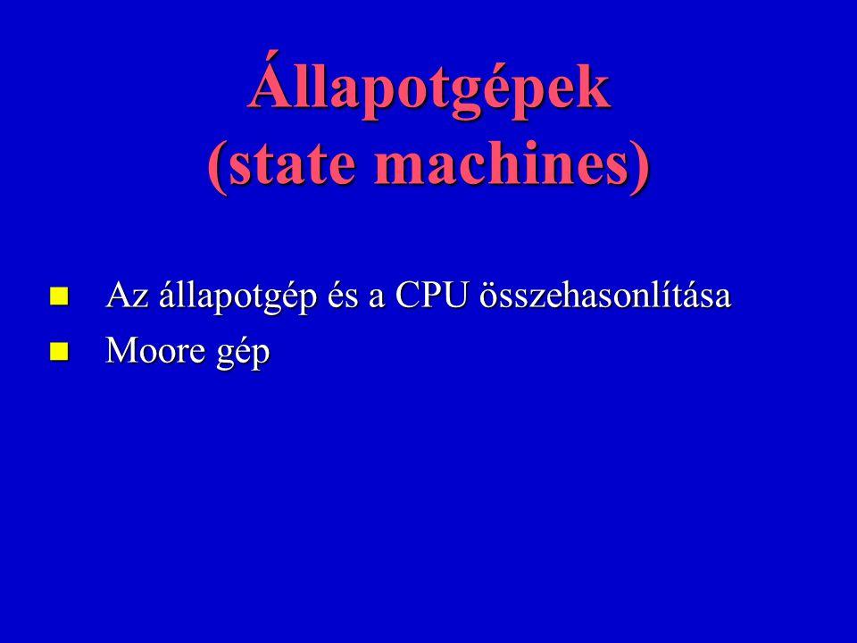 Állapotgépek (state machines)