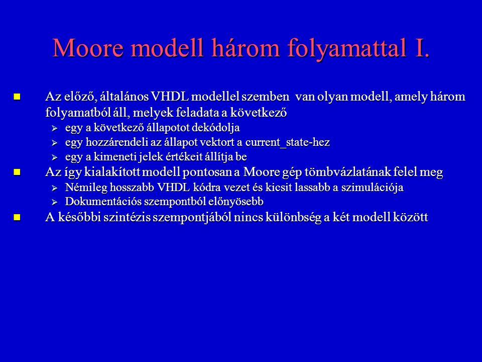 Moore modell három folyamattal I.