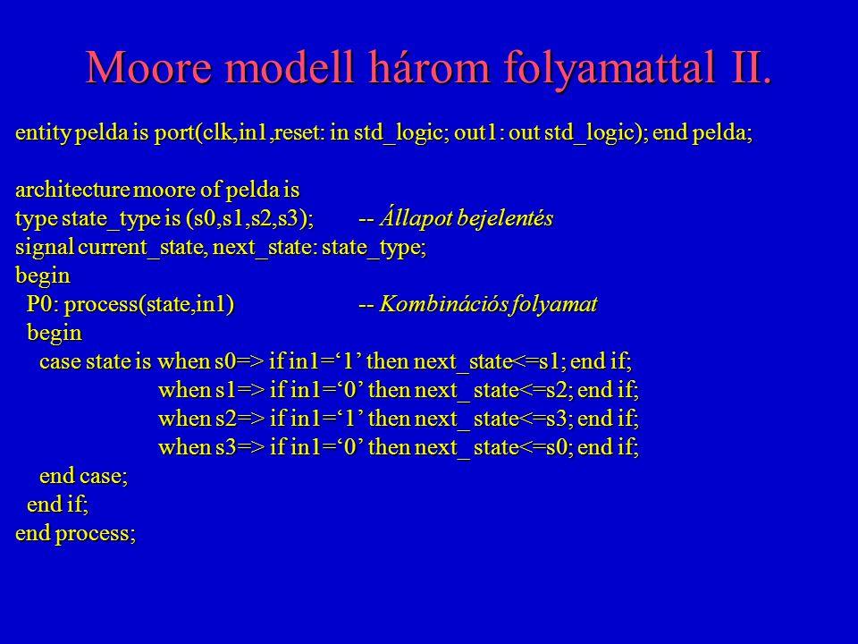 Moore modell három folyamattal II.
