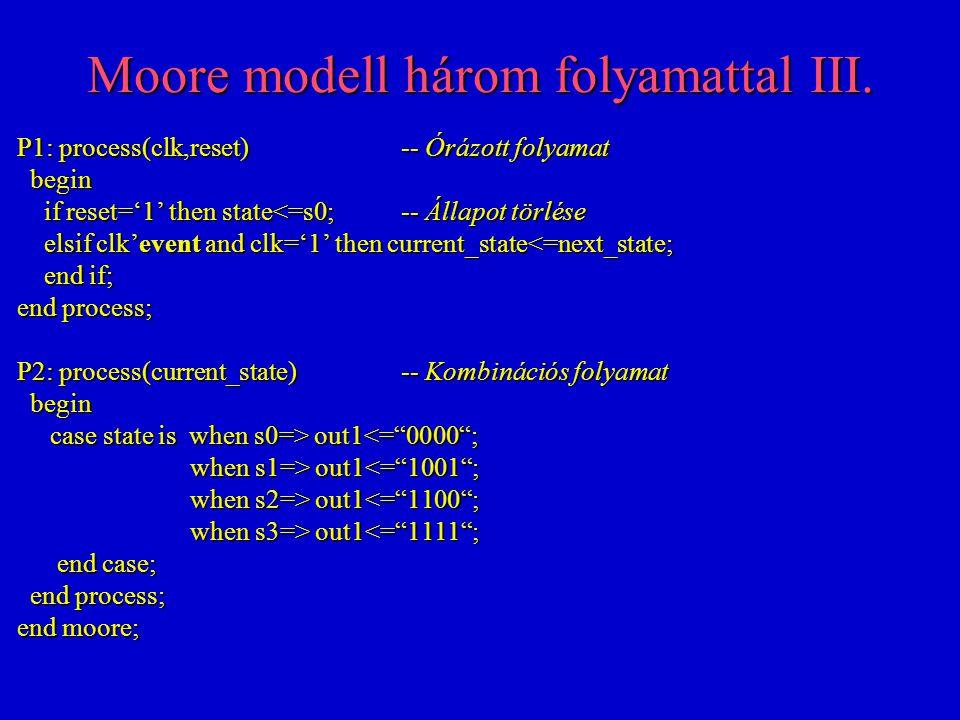 Moore modell három folyamattal III.