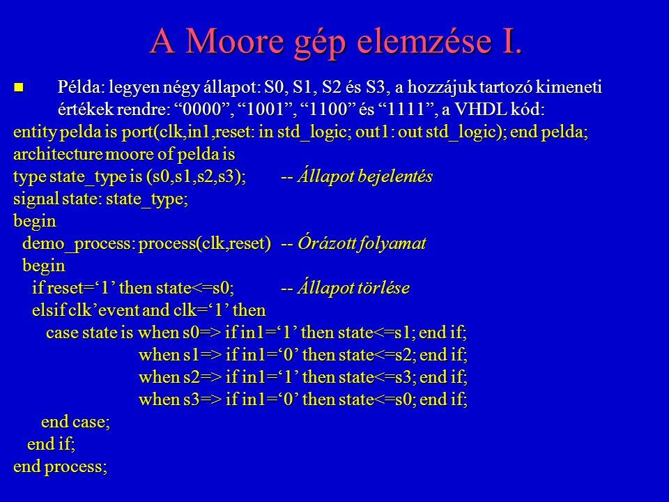 A Moore gép elemzése I.
