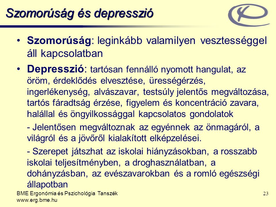 Szomorúság és depresszió