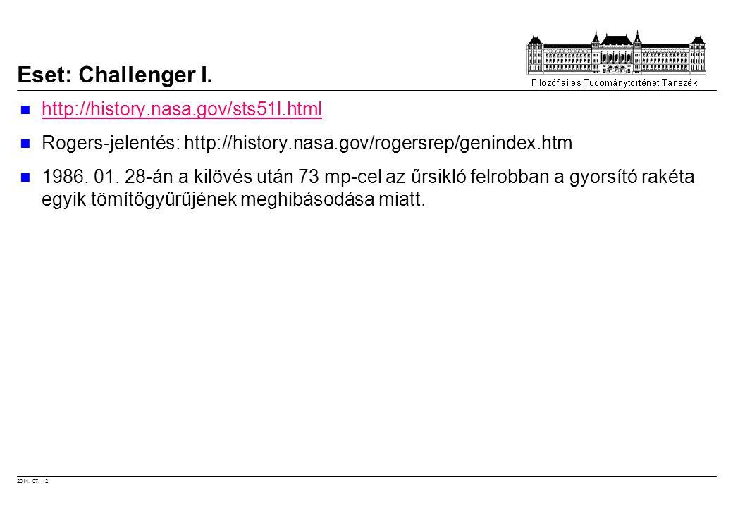 Eset: Challenger I. http://history.nasa.gov/sts51l.html