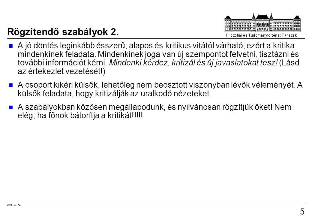 Rögzítendő szabályok 2.