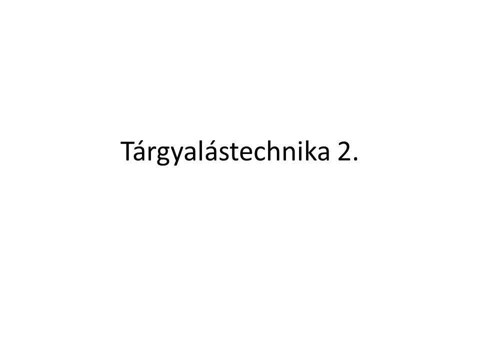 Tárgyalástechnika 2.