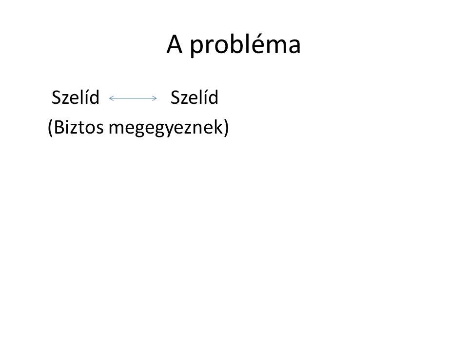 A probléma Szelíd Szelíd (Biztos megegyeznek)