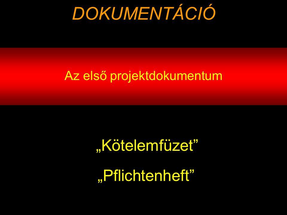 Az első projektdokumentum