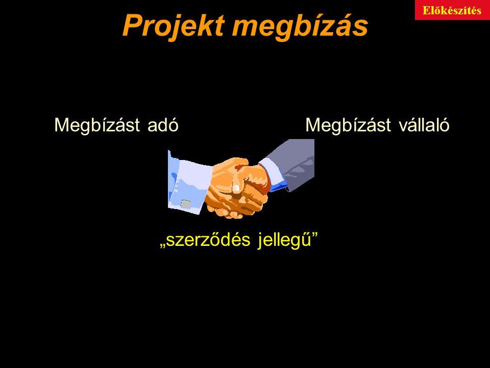 """Projekt megbízás Megbízást adó Megbízást vállaló """"szerződés jellegű"""