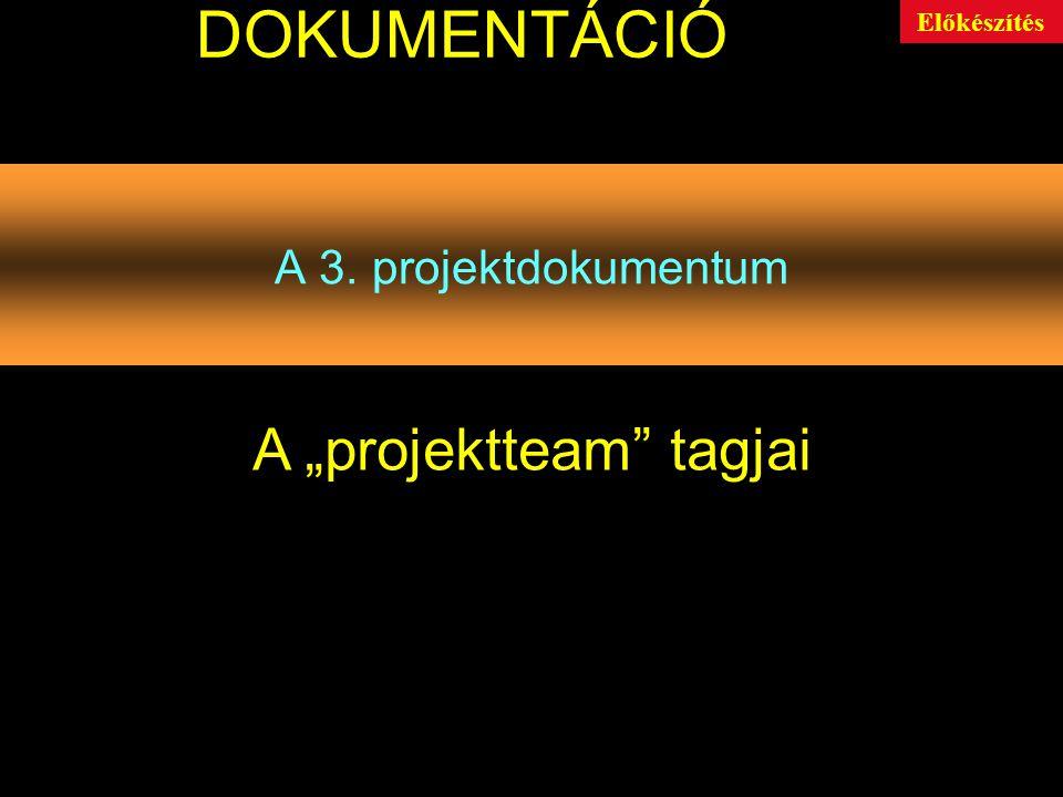 "A ""projektteam tagjai"