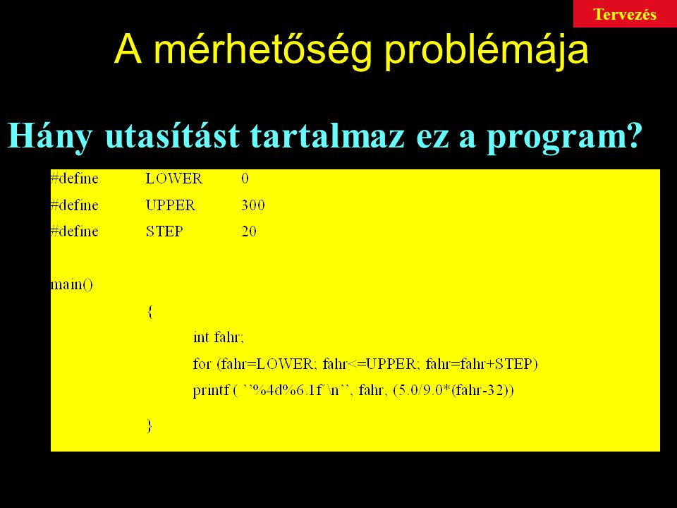 A mérhetőség problémája