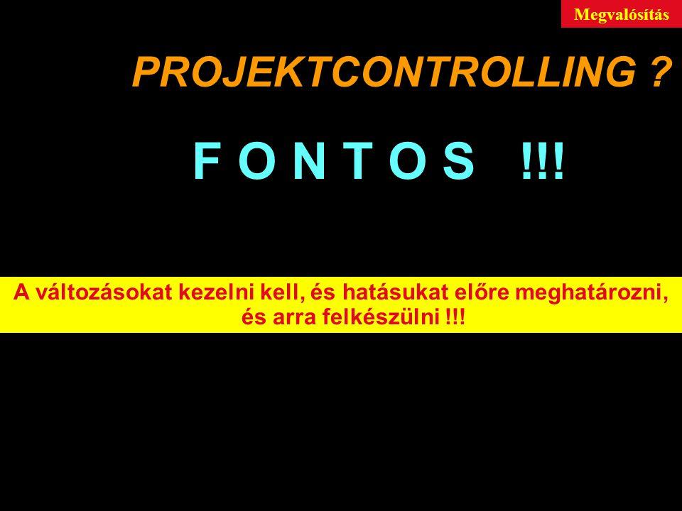 F O N T O S !!! PROJEKTCONTROLLING