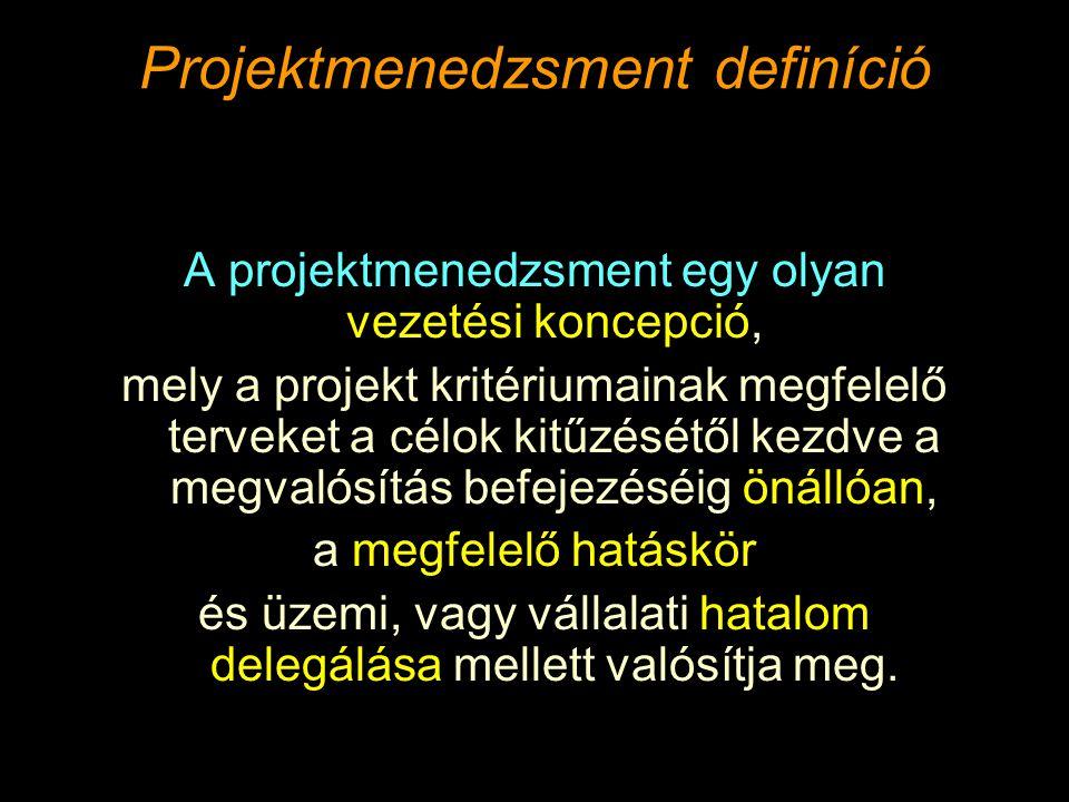 Projektmenedzsment definíció