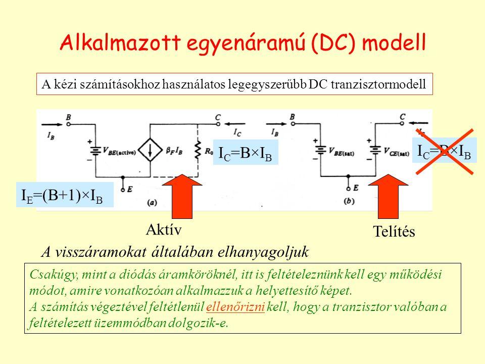 Alkalmazott egyenáramú (DC) modell