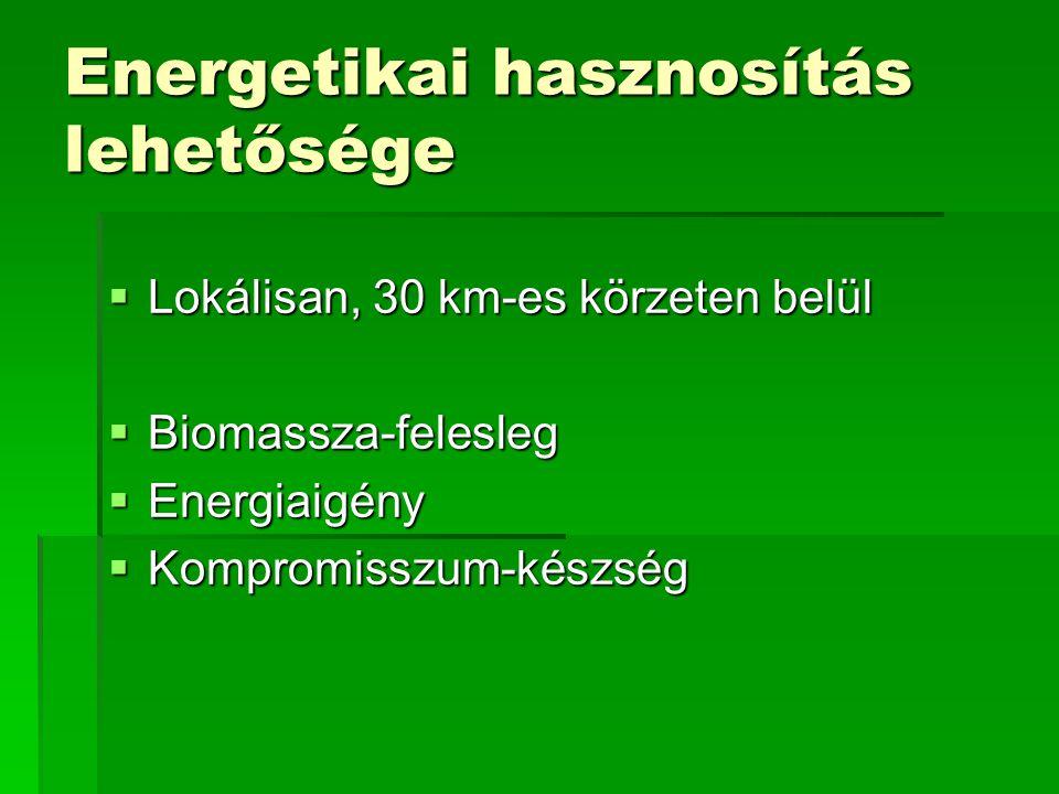 Energetikai hasznosítás lehetősége
