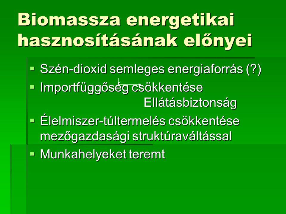 Biomassza energetikai hasznosításának előnyei
