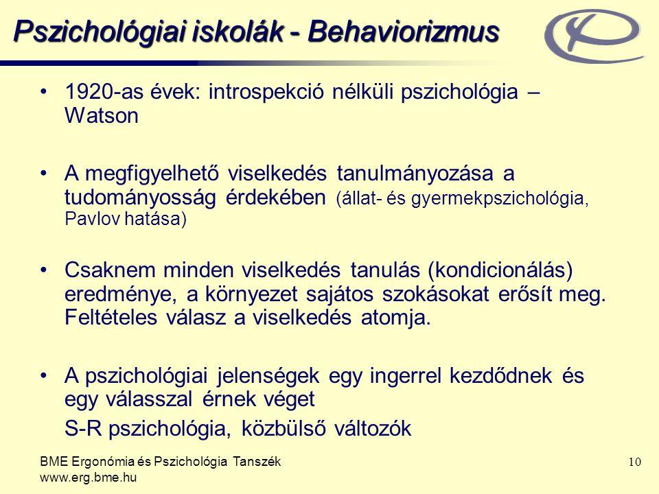 Pszichológiai iskolák - Behaviorizmus