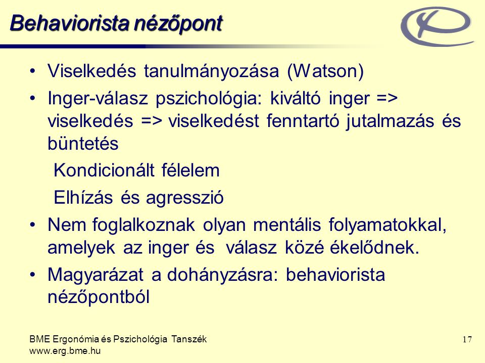Behaviorista nézőpont