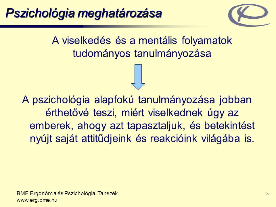 Pszichológia meghatározása
