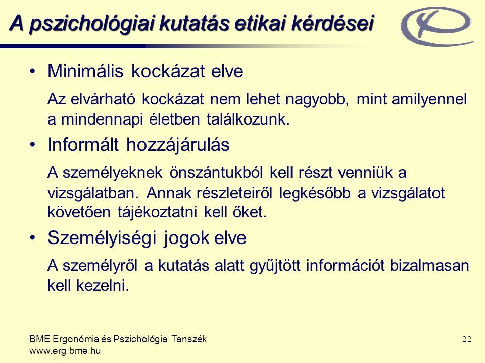 A pszichológiai kutatás etikai kérdései