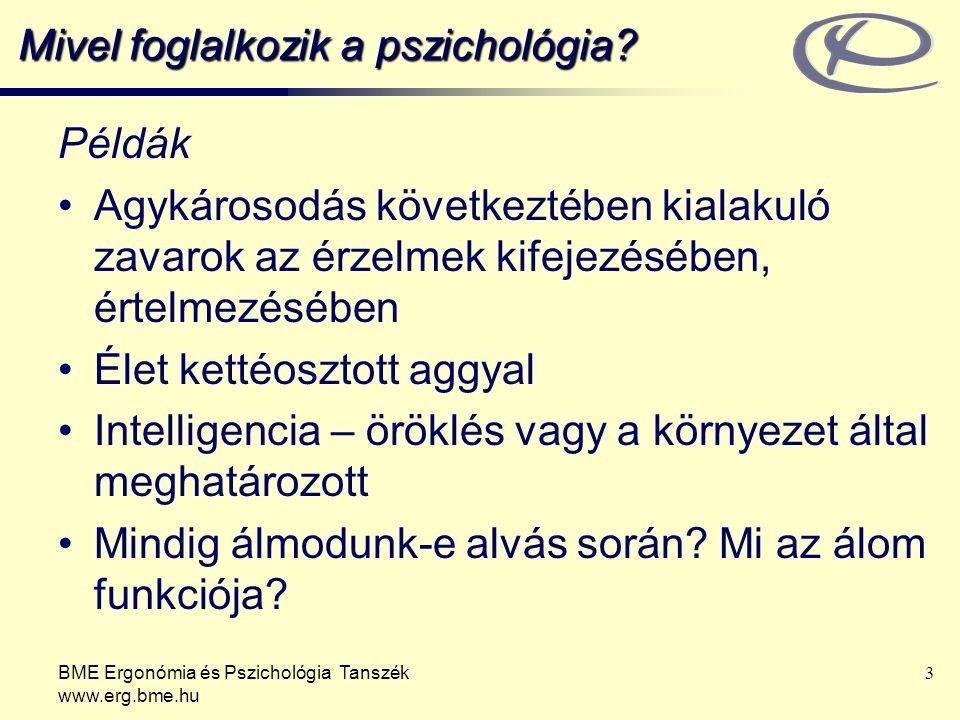 Mivel foglalkozik a pszichológia