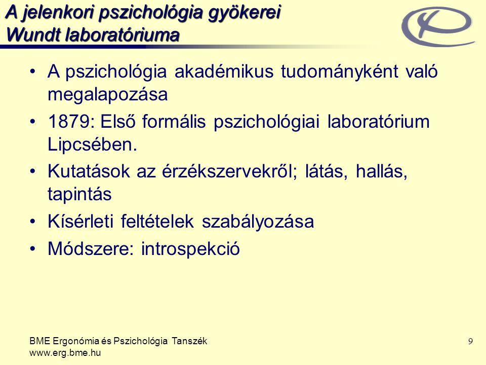 A jelenkori pszichológia gyökerei Wundt laboratóriuma