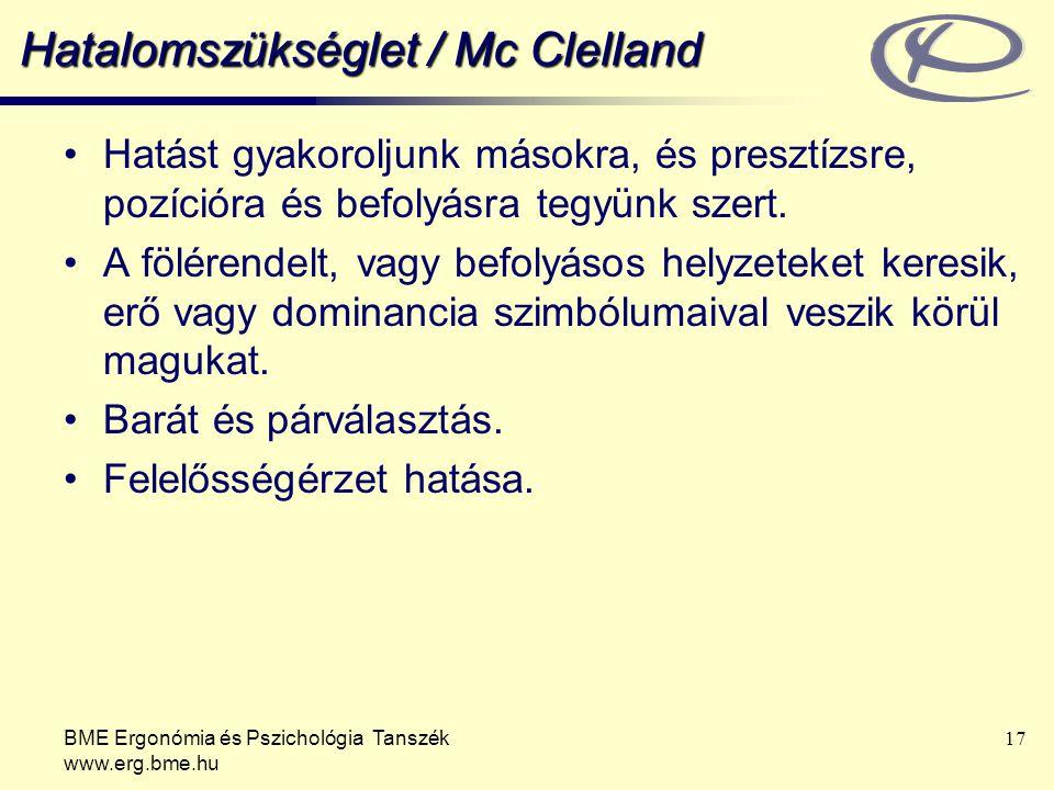 Hatalomszükséglet / Mc Clelland