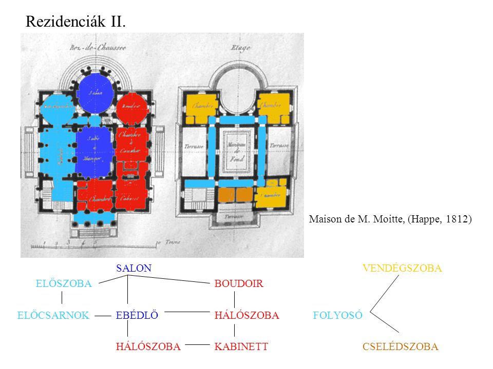 Rezidenciák II. Maison de M. Moitte, (Happe, 1812) SALON VENDÉGSZOBA