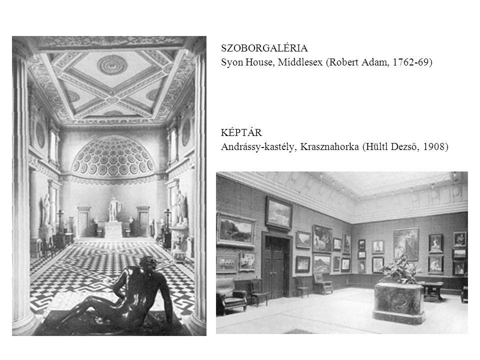 SZOBORGALÉRIA Syon House, Middlesex (Robert Adam, 1762-69) KÉPTÁR.