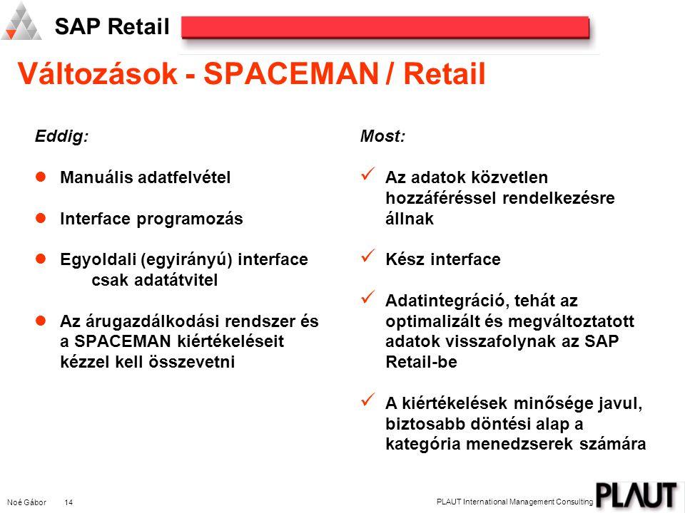 Változások - SPACEMAN / Retail