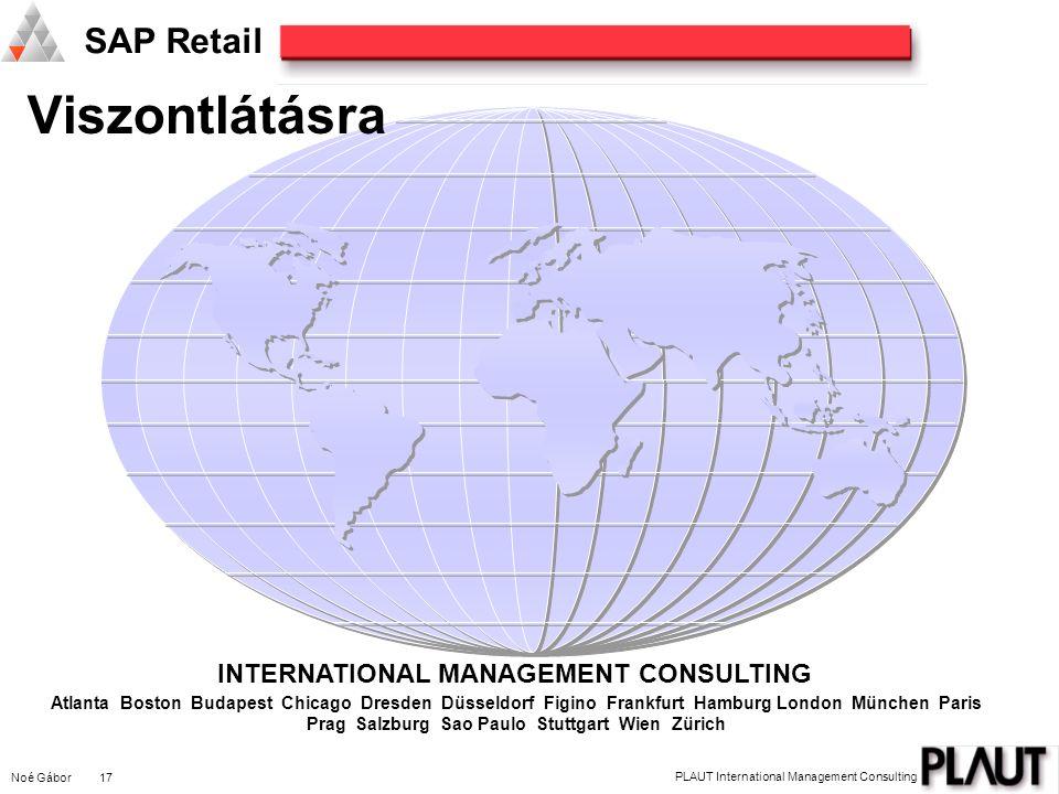 Viszontlátásra INTERNATIONAL MANAGEMENT CONSULTING