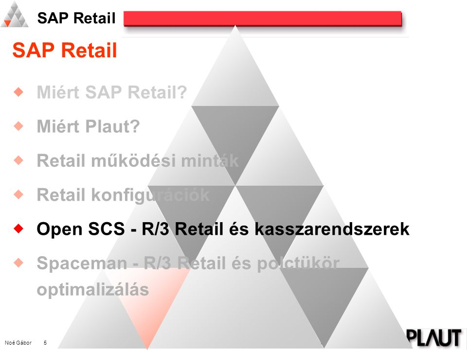 SAP Retail Miért SAP Retail Miért Plaut Retail működési minták