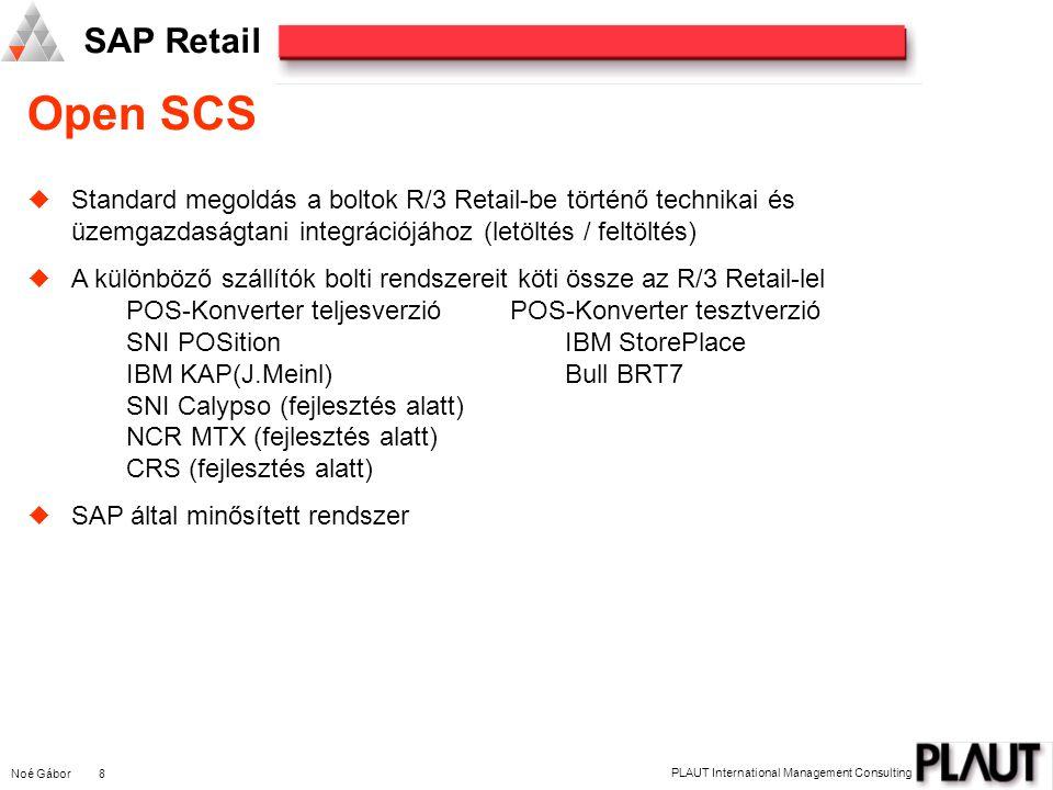 Open SCS Standard megoldás a boltok R/3 Retail-be történő technikai és üzemgazdaságtani integrációjához (letöltés / feltöltés)