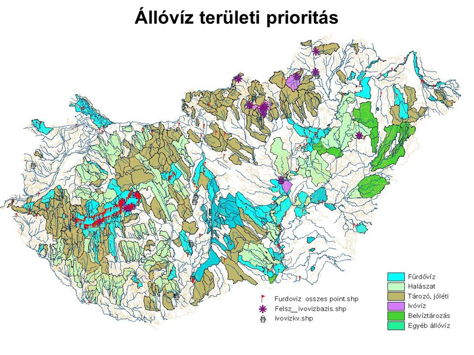 Állóvíz területi prioritás