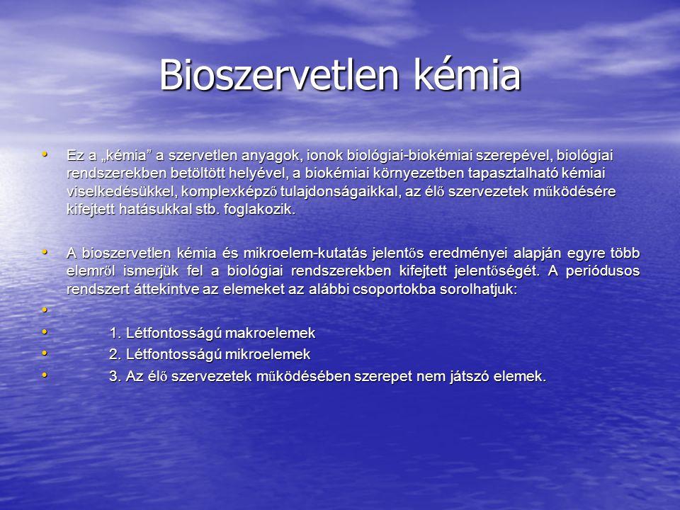 Bioszervetlen kémia