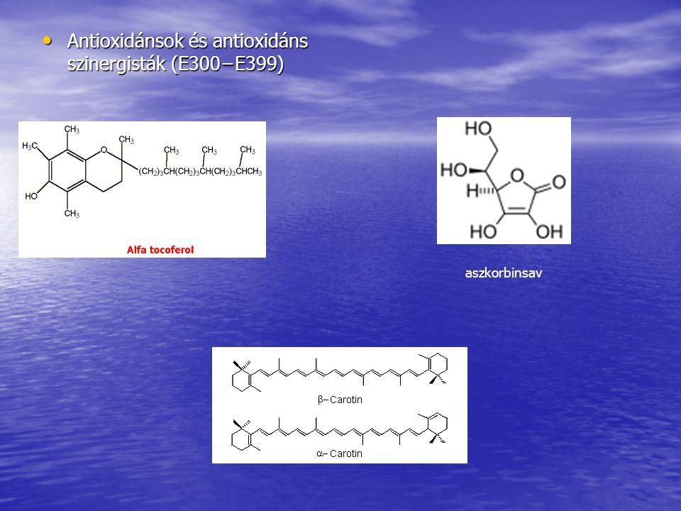 Antioxidánsok és antioxidáns szinergisták (E300−E399)