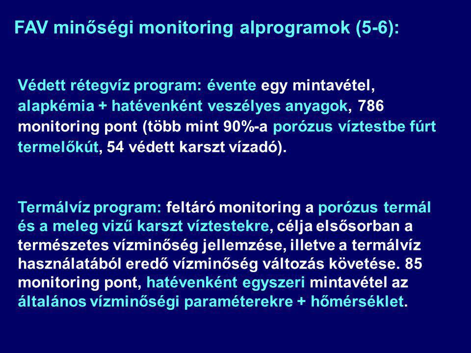 FAV minőségi monitoring alprogramok (5-6):