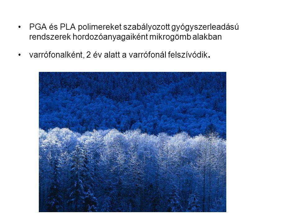 PGA és PLA polimereket szabályozott gyógyszerleadású rendszerek hordozóanyagaiként mikrogömb alakban