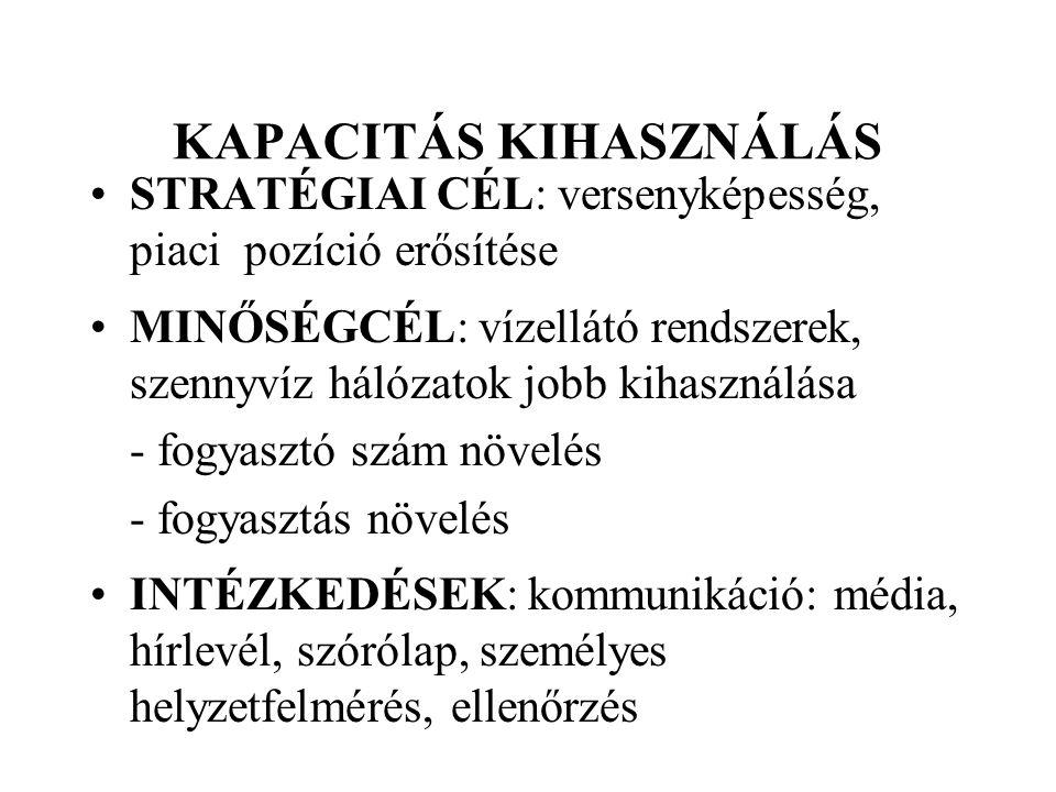 KAPACITÁS KIHASZNÁLÁS