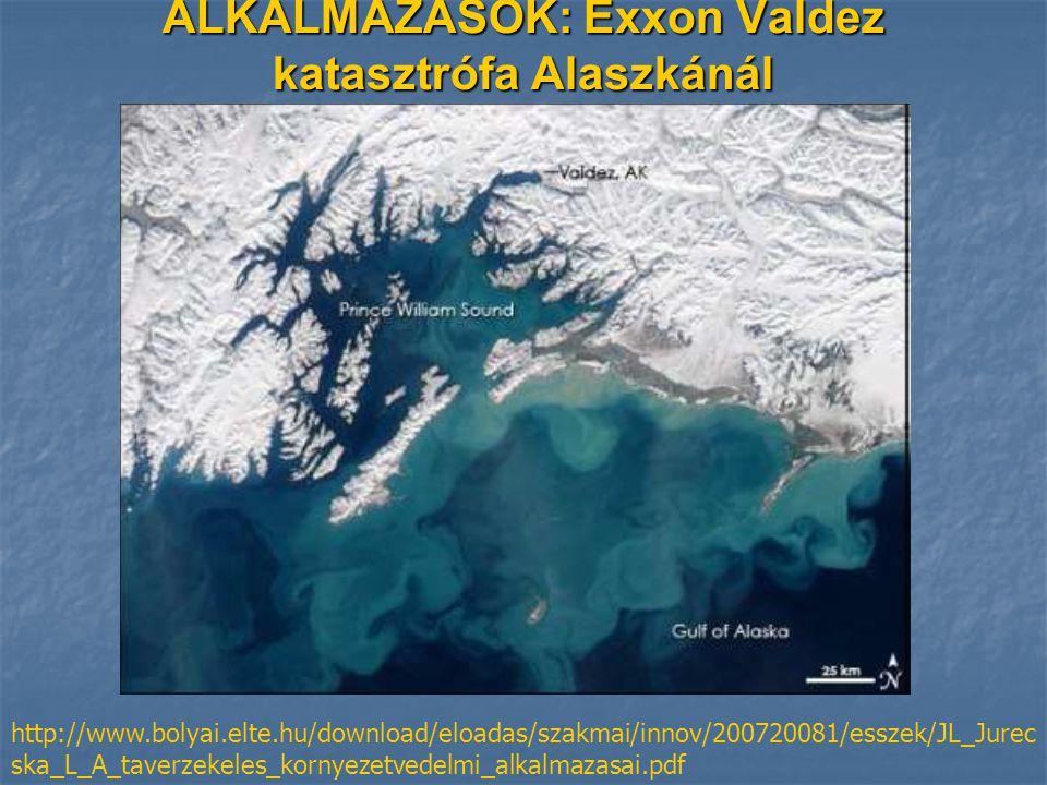 ALKALMAZÁSOK: Exxon Valdez katasztrófa Alaszkánál
