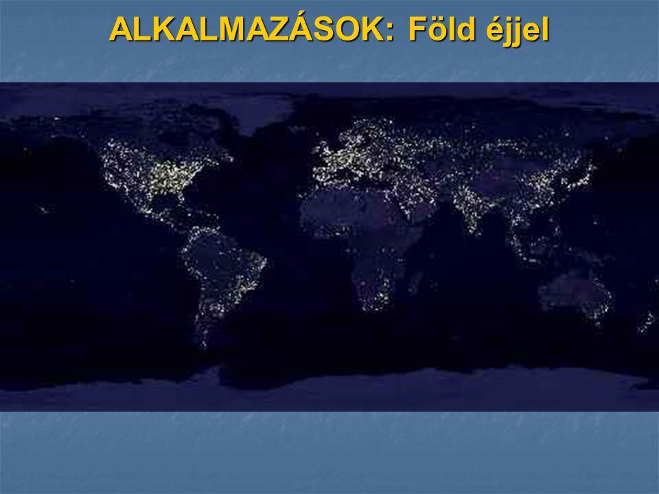 ALKALMAZÁSOK: Föld éjjel